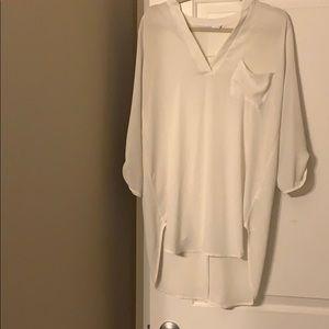 Lush White Blouse Size L